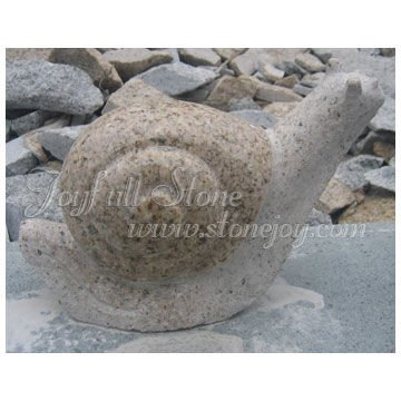 Stone Snail Art Carving