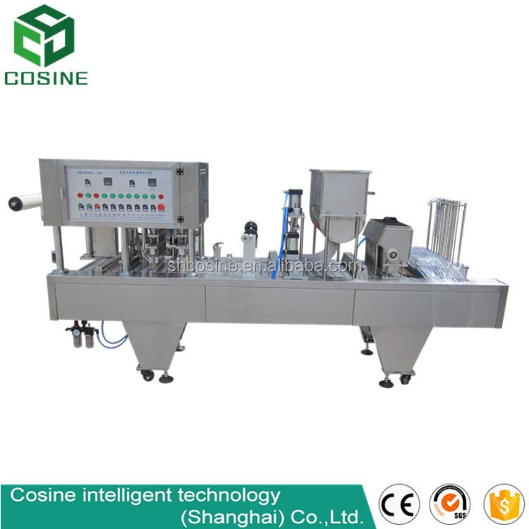 high speed automatic bubble tea cup filling and sealing machine