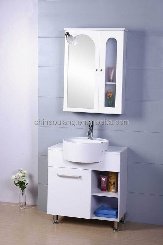 Simple Small MDF Cheap Laundary Sink Cabinet Combo in Bathroom