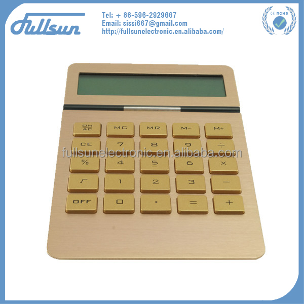 FS-2153 Golden advertising aluminum basic calculator