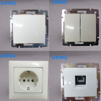 European smart touch electrical switches with socket