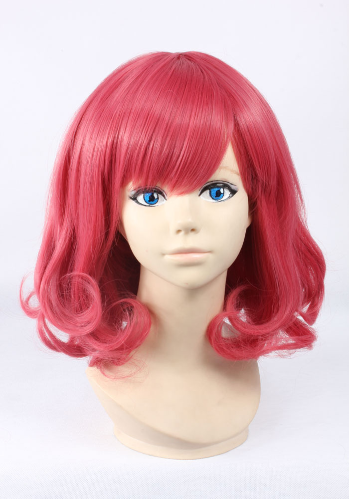 Get Quotations · Super deals pink short curly synthetic wig perucas cosplay  wigs women cheap fashion pelucas bob style f4dd855a16c2