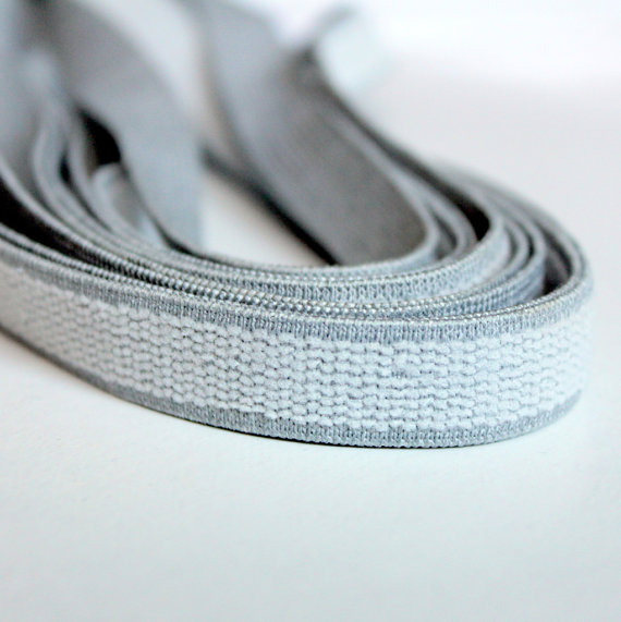 Plush Back Elastic, Light Gray Elastic, Bra Making Elastic,