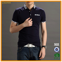 Man's double mercerized cotton 35%polyester 65%cotton polo tshirt t shirt polo vendor China