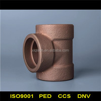 copper alloy equal tee