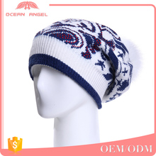 High Quality Pom Pom Cheap Custom Winter Hat/ Knitted Beanie/ Knitted Hat