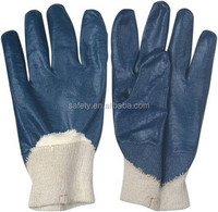 Rough Palm Waterproof Knit Wrist Nitrile Coated Electrical Safety Hand Gloves