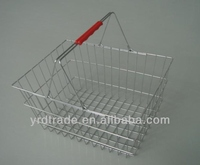 chrome shopping basket
