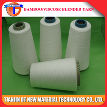 32S white color viscose blended with bamboo knitted yarn