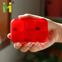 Small MOQ Fast Delivery Red Color Wholesale Weekly Pill Organizer 7 day