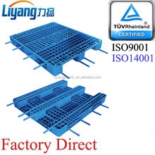 High quality sizes warehouse racking system rackable plastic pallet with reinforced