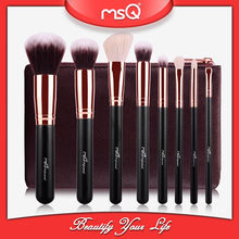 MSQ PU leather 8 piece professional makeup brush set with bag