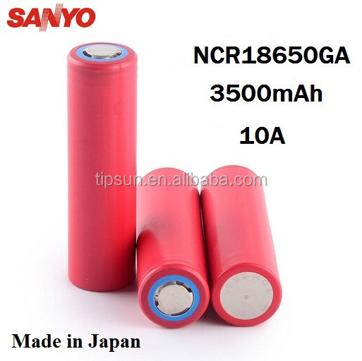 Genuine SANYO NCR18650GA 3500mAh 10A discharge Li-ion Rechargeable Battery