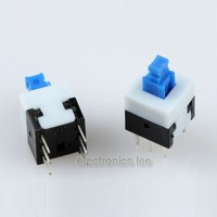 Self-Lock ON/OFF lock Push Switch 8.0 x 8.0mm
