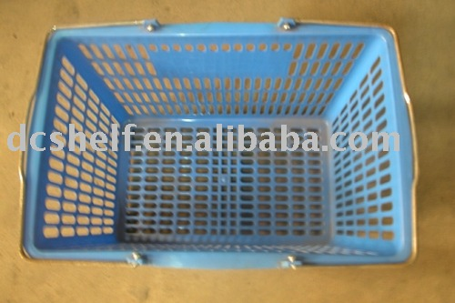 Dachang Factory plastic shopping basket supermarket