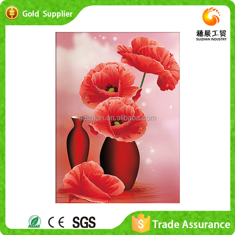 Wholesale Decorative 3D Diy <strong>Pictures</strong> For Fabric Painting Flower