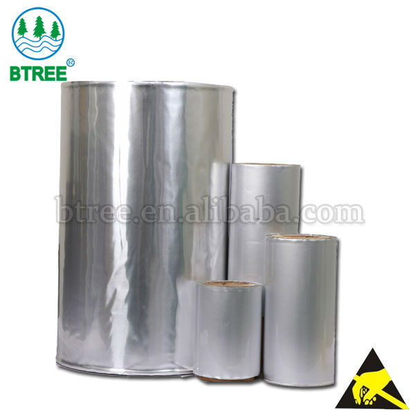 Btree ESD Aluminum Foil Laminated Roll Film For ESD Bags