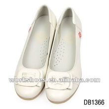 soft pad wedge heel fashion ladies shoes with white color