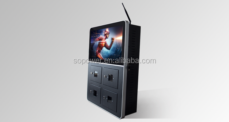 "cellphone charge locker 21""ceiling suspended car/bus lcd advertising player/monitor/display/digital signage"