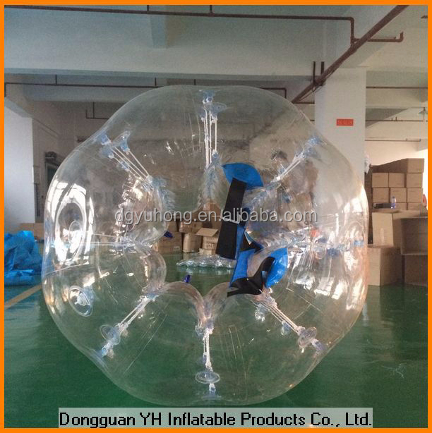 1.5m PVC transparent inflatable ball costume for football game