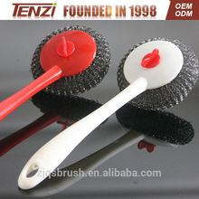 Cleaning kitchen dish brush