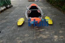 100% Transparent PC material kayak canoe of clear plastic boat