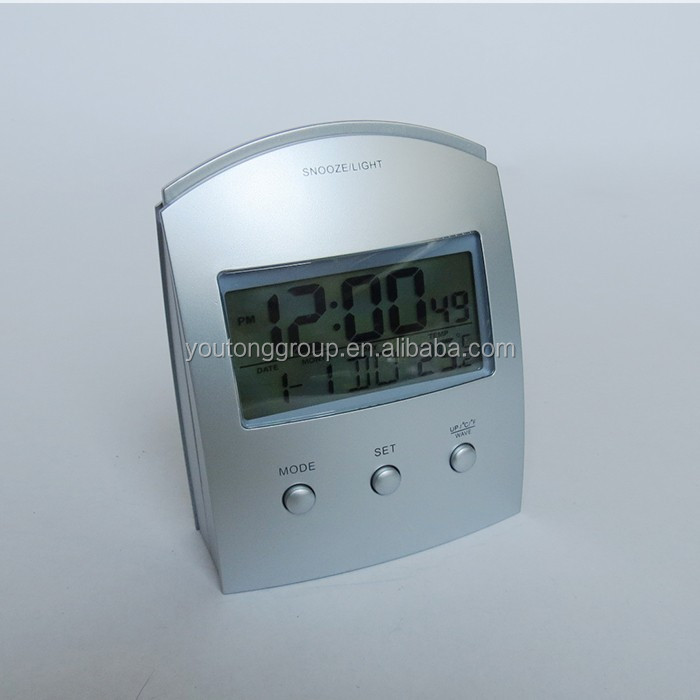 radio controlled LCD display electric table clock