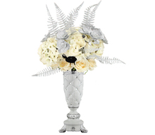 White diamond ceramic flower vase for wedding table decoration