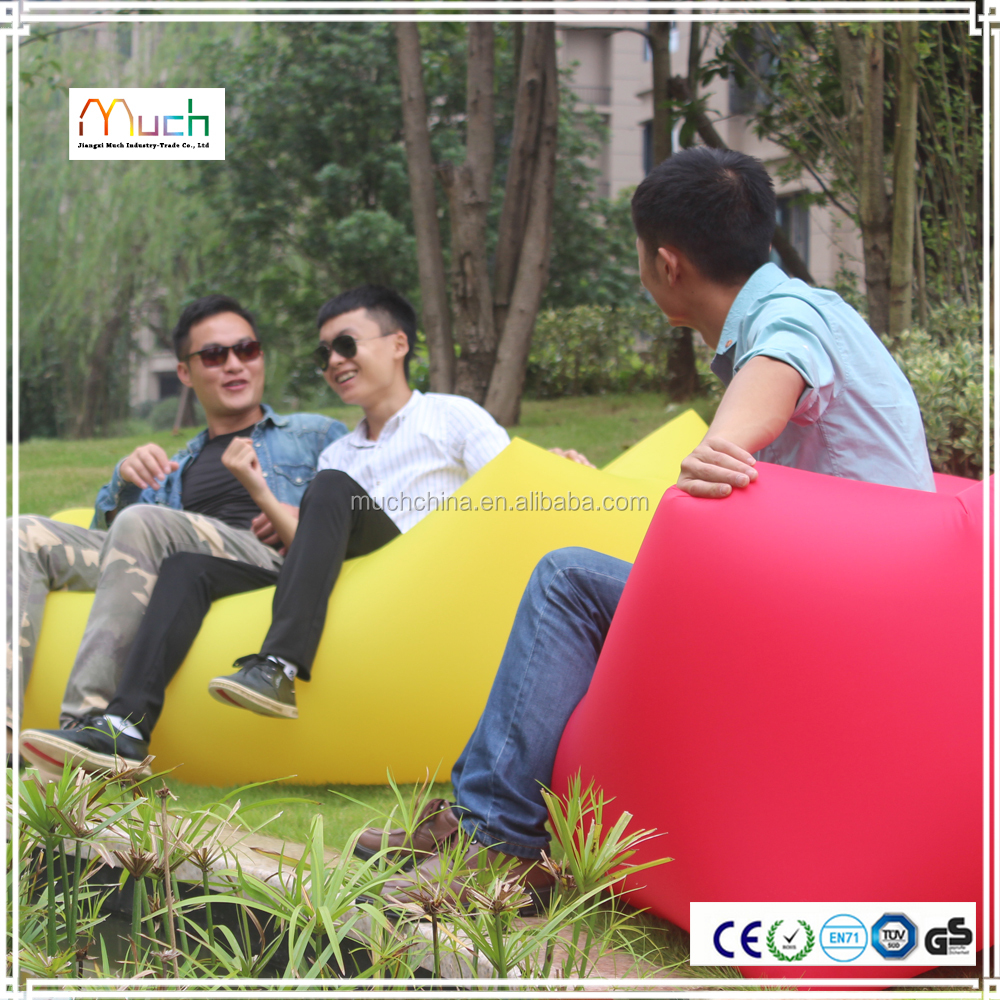 wholesale portable comfortable camping sofa inflatable sofa pink