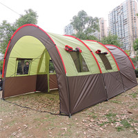 Camping family tent,outdoor instant cabin,waterproof windproof large tunnel tent for sale