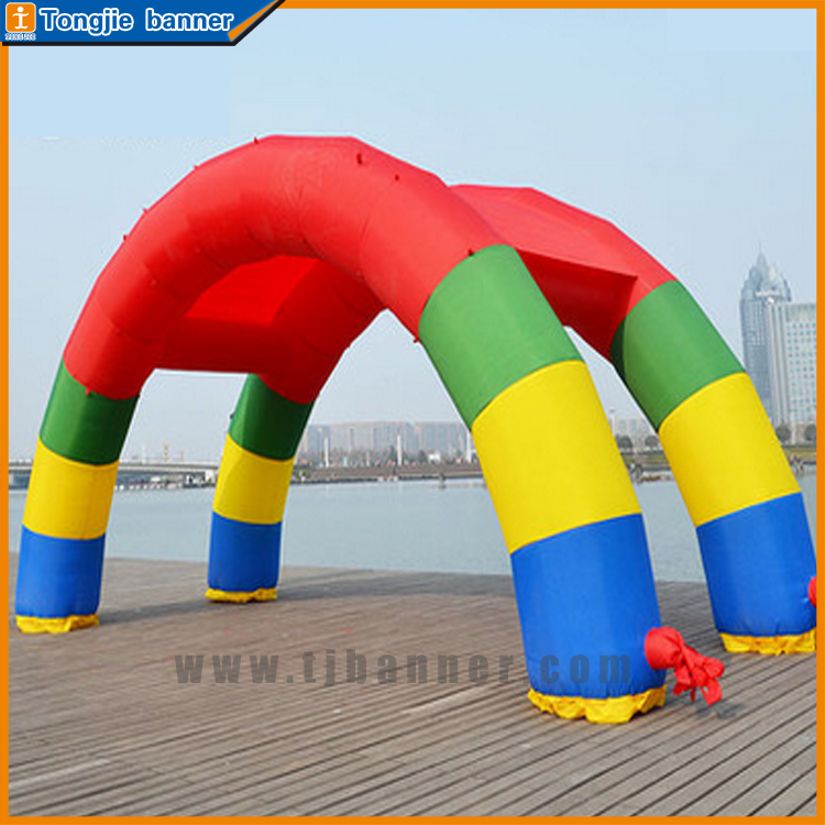 New finished wedding arch model inflatable rainbow arch