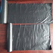 Biodegradable feature heat seal cheap plastic black garbage bag