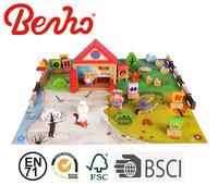 Preschool educational wooden puzzle pretend toys
