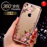 Secret Garden Flower Pattern TPU Electroplate Mobile Phone Case For Iphone 6,For Iphone 6puss