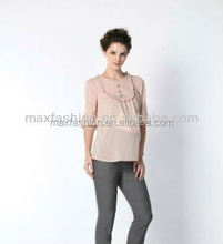 2013 brightly colored ladys summer chiffon blouses