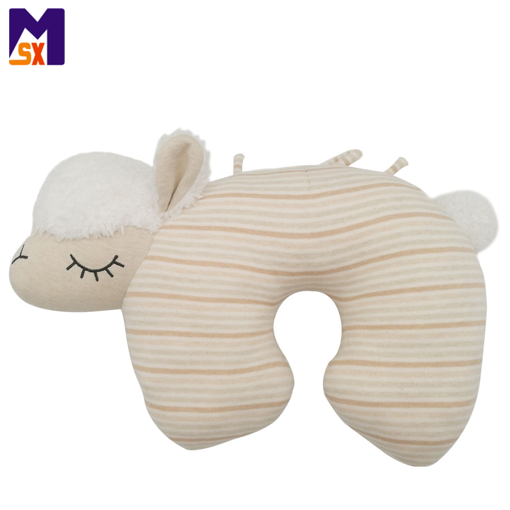 Mongolian lamb fur pillow organic cotton baby pillow