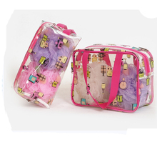 plastic beach bags swimwear storage bag transparent cosmetic bag