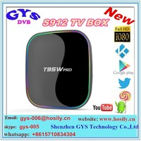 1080p android dongle player T95W pro 2g 16g 4k dual band wifi s912 smart tv box