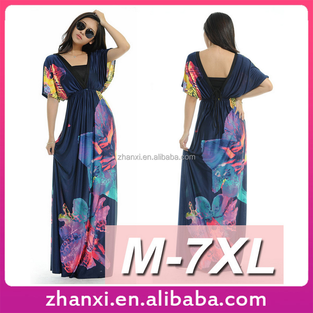 Long Maxi Dress M-7XL African Printed Fat Wholesale Plus Size Women Clothing