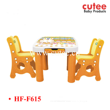 Space Saving Stackable Folding Assembled School Plastic Table And Chair For Kids