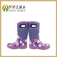 2015 casual pattern fashion-designed cheap girl neoprene Rain Boot