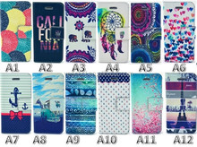 Multi Design Painted Skin Book Wallet PU Leather Case For iPhone 5 5G 5S