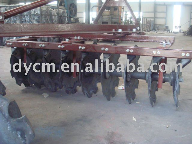 offset trailed heavy duty disc harrow for four wheel tractor