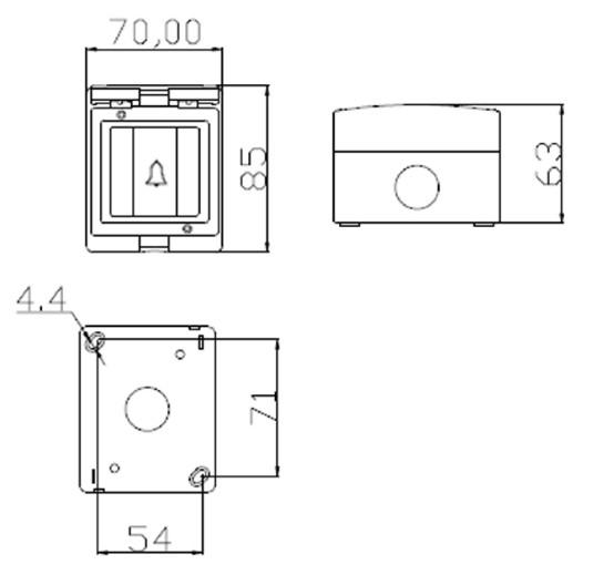 ip55  u00c9tanche porte sonnette interrupteur