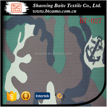 TC 65/35 camouflage quilting fabric custom pattern