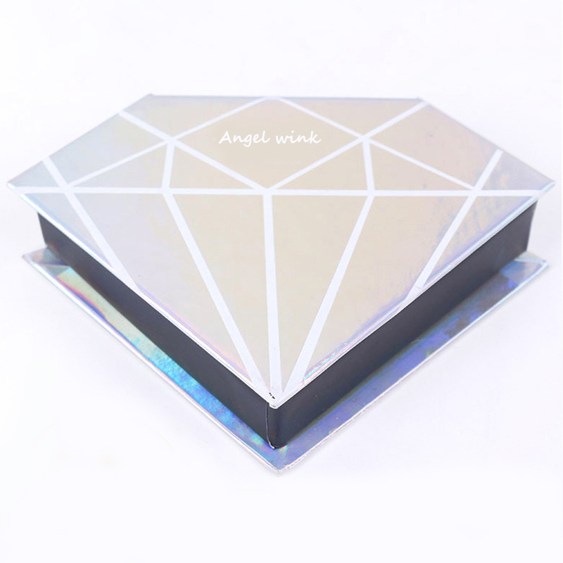 2019 High quality heart eyelash private label eyelash box packaging box with customized eyelash box private label