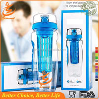 32oz flip top drinking high quality plastic fruit water bottle with sipper