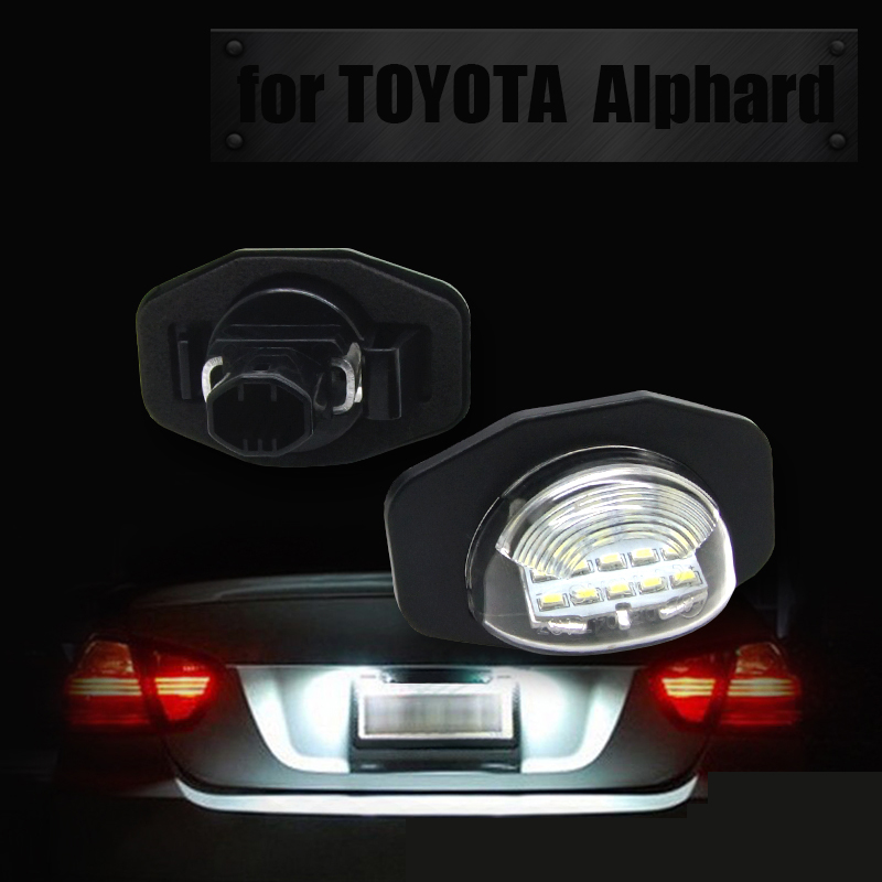 Manufacturer led license plate lamp with canbus no error for TOYOTA ALPHARD corolla