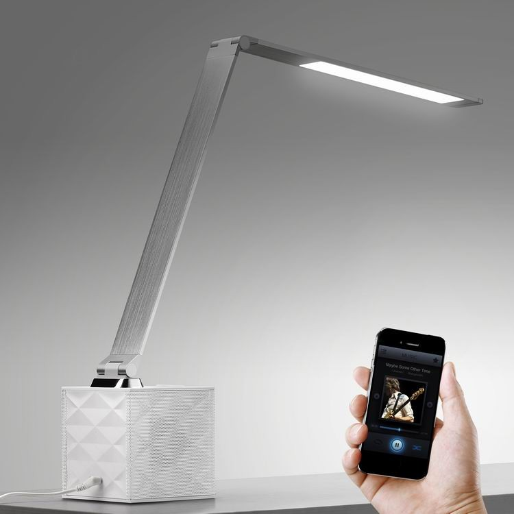 Eye Protection LED Touch light Bedside Lamp Smart LED Desk lamp with Bluetooth Speaker