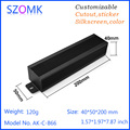 SZOMK long black aluminium case with wall-mounted panels 40*50*200mm
